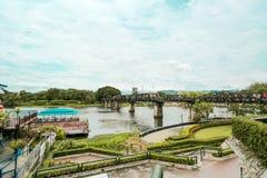Bron av flodkwaien Arkivbilder
