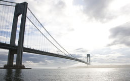 bron begränsar verrazano Arkivbild