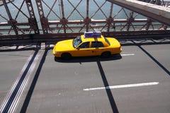 bron brooklyn taxar yellow Arkivbild