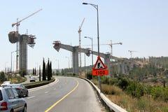 bron byggde nytt Royaltyfri Foto