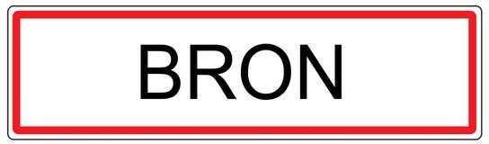 Bron city traffic sign illustration in France Stock Image