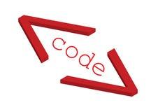 Bron code - vector Stock Foto