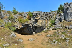 Bron för gud` s kallade också den naturliga bron från Ponoarele, Rumänien Fotografering för Bildbyråer