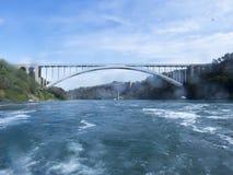 bron faller den niagara regnbågen Arkivfoto