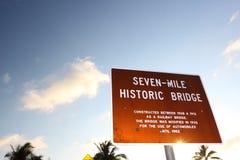 bron florida keys mile sju Royaltyfria Bilder