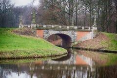 Bron i bremen parkerar Arkivfoton
