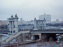 Bron i Moskva Royaltyfria Bilder