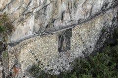 Bron Machu Picchu fördärvar Cuzco Peru Arkivfoton