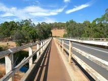 Bron på Blackwoodfloden royaltyfri fotografi