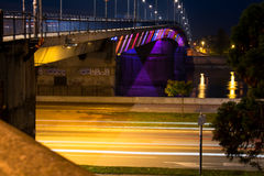 Bron på Donauen Arkivfoto