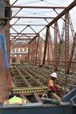 Bron på Glendale SC renoveras för bruk som att samla fläcken Royaltyfria Bilder