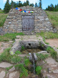 Bron van de Morava-Rivier, de heuvel van Kralicky Sneznik Royalty-vrije Stock Afbeelding
