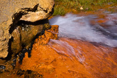 Bron van mineraalwater Stock Foto's