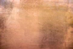 Bronce o placa de cobre, hoja del vintage de metal no ferroso como backg imágenes de archivo libres de regalías