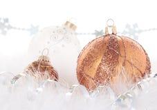 Bronce y cobre de la Navidad foto de archivo