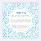 Bronchitis concept with thin line icons vector illustration