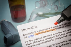 Bronchitis treatments. Healtcare and prevention concept Stock Photo