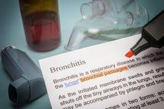 Bronchitis treatments Stock Photo