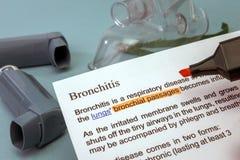 Bronchitis treatments Stock Image