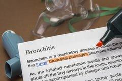 Bronchitis treatments Royalty Free Stock Photography