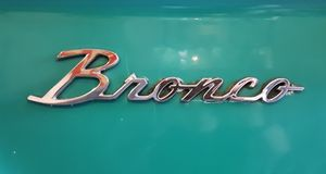 Bronco Badge Royalty Free Stock Photo