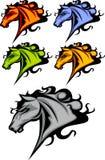 bronco loga maskotki mustang royalty ilustracja