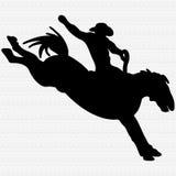 Bronco Rider Illustration Royalty Free Stock Photo