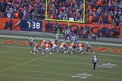 Broncos pour le score Images stock