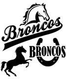 Broncos Team Mascot royalty illustrazione gratis