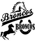 Broncos Team Mascot Stock Images