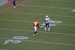 Broncos Thomas ready. Broncos #88 demaryius thomas lines up for another offensive play royalty free stock images