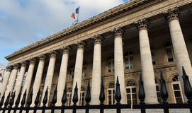 The Brongniart palace-Bourse of Paris, France. Stock Images
