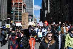 broniący życia, kontrola broni palnej, Marzec dla Nasz żyć, protest, NYC, NY, usa Obrazy Royalty Free