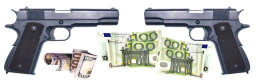 Bronie który banditÑ- zakup dla przestępstwa Obraz Stock