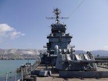 Bronie Radziecki krążownik Mikhail Kutuzov Novorossiysk, Rosja Fotografia Royalty Free