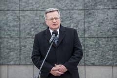 Bronislaw Komorowski в Польше Стоковые Изображения RF