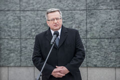 Bronislaw Komorowski in Poland Royalty Free Stock Images
