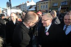 Bronislaw Komorowski Präsident von Polnad Lizenzfreies Stockbild