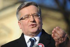 Bronislaw Komorowski Präsident von Polnad Lizenzfreies Stockfoto