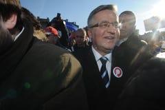 Bronislaw Komorowski president av Polnad Royaltyfria Bilder