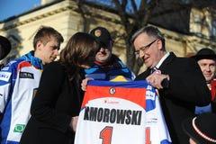 Bronislaw Komorowski president av Polnad Royaltyfria Foton