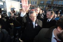 Bronislaw Komorowski president av Polnad Royaltyfri Fotografi