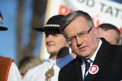 Bronislaw Komorowski president av Polnad Fotografering för Bildbyråer