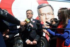 Bronislaw Komorowski presidential campain Royalty Free Stock Photo