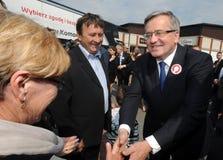Bronislaw Komorowski prezydencka kampania Zdjęcia Royalty Free