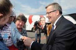 Bronislaw Komorowski prezydencka kampania Zdjęcia Stock