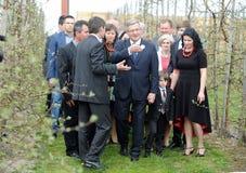 Bronislaw Komorowski prezydencka kampania fotografia stock