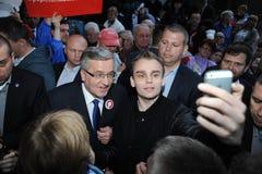 Bronislaw Komorowski prezydencka kampania Obrazy Stock