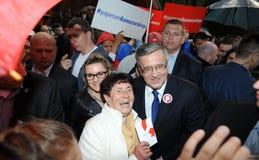 Bronislaw Komorowski prezydencka kampania Zdjęcie Stock