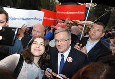 Bronislaw Komorowski prezydencka kampania Zdjęcie Royalty Free
